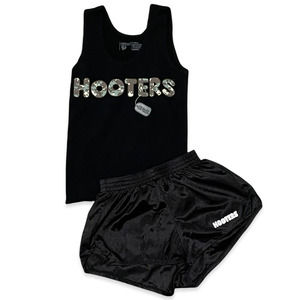 Hooters Girl Uniform We Salute Our Troops Military Limited Edition Black